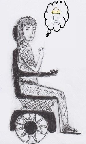 dessin fille en fauteuil avec biberon_zpsmgwnmx9d
